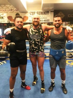 Guido with Joe Joyce and Tyson Fury